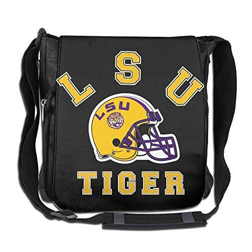 LSU Tigers Helmet Logo Mens And Womens Outdoor Single Shoulder Crossbody Bag Backpack For -