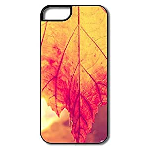 Cartoon Rust Colored Leaf Macro IPhone 5/5s Case For Her