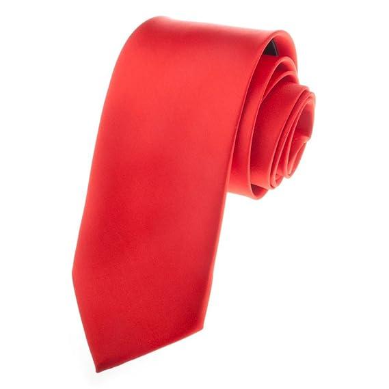 TopTie Mens corbata Solid Color Red Corbatas, formal Neck Ties ...