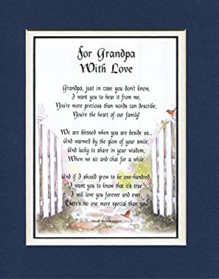 A Birthday Or Father's Day Gift Present For Grandpa, # 45a, A Grandfather Poem.