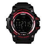 Anyasun Smart Watch for Outdoor Sports Bluetooth Wrist Waterproof 5ATM 316L Stainless Steel Smart Watch with Step counting/Working distance/Burned calories/Remote camera/information reminder function Anyasun