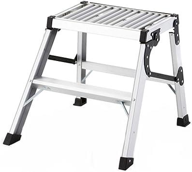 C-J-Xin Escalera de dos pasos, escalera plegable al aire libre multifuncional de la escalera antideslizante del hogar del metal Escalera de casa (Size : 59 * 63 * 50CM): Amazon.es: Bricolaje y herramientas