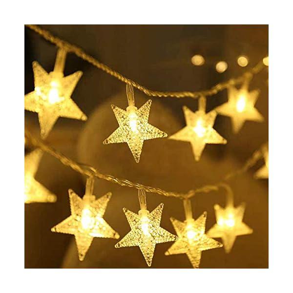 Luci Natalizie, DIKI Catene Luminose LED Star Luci di Natale Camera da letto 2 modalità 5M 40 LED Decorazioni natalizie Holiday Fairy Home, Indoor e Outdoor 1 spesavip