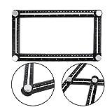 AMZVASO - Black Aluminum Alloy Four-Sided Ruler Measuring Instrument Template Angle Tool Mechanism Slides