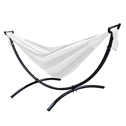 Lazy Daze Hammocks 8 3 Feet Space Saving Steel Hammock Stand Portable  Hammock Stand with Hooks, 450 Pounds Weight Capacity