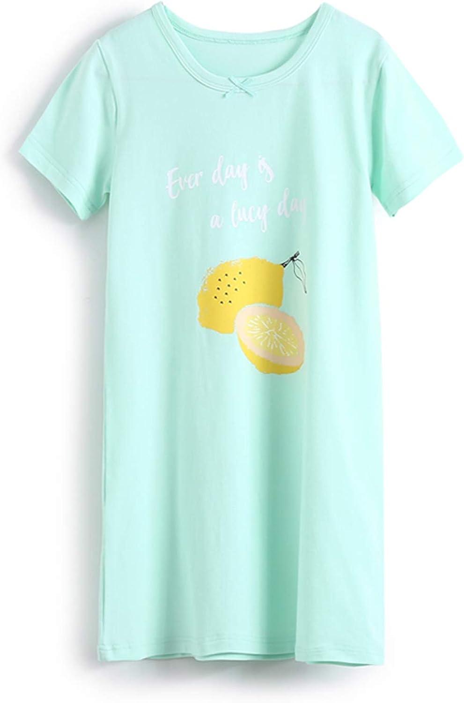 SYROSA Camicie da Notte Ragazze Estate Bambine Maniche Corte Pigiami Frutta 3-12 Anni