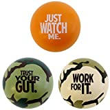 Motivational Stress Balls, 3 Pack, Teacher Peach Stress Relief Gifts (Orange Camo)
