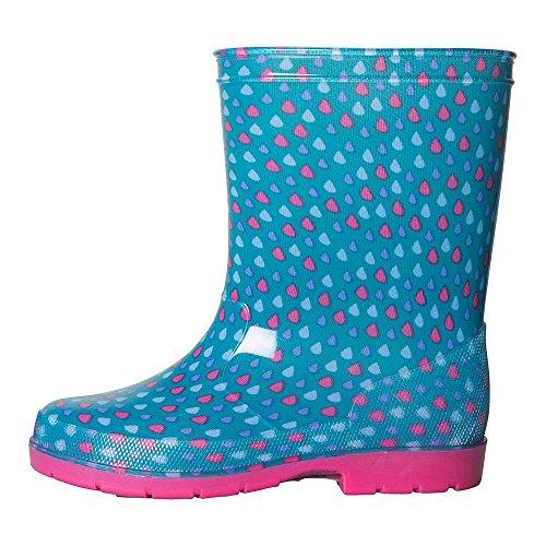 Mountain Warehouse Splash Gummistiefel Für Kinder - Pflegeleichte Gummistiefel, Wasserfest, Wanderschuhe mit Weichem Stofffutter, Sommerschuhe, Hoher Schaft - Für Reisen Leuchtendes Pink