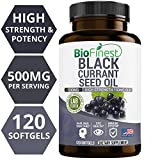 Biofinest Black Currant Seed Oil Supplement - 500 Mg 100% Organic Cold-Pressed