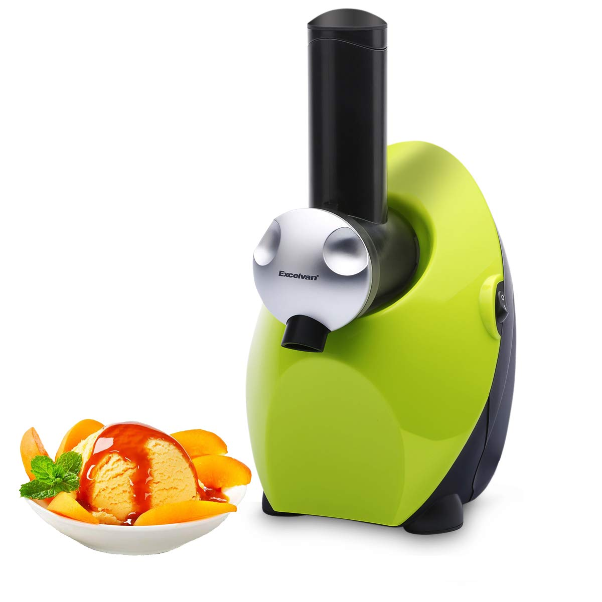 Homemade Frozen Fruit Yogurt Dessert Maker, Automatic Healthy Ice Cream Maker Electric Machine, Sweet Treat Smoothie Sorbet Maker Blender by Excelvan (Green)