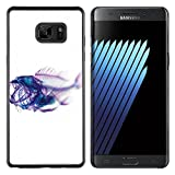 Plastic Shell Protective Case Cover || Samsung Samsung Galaxy Note7 / Note 7 Duos / N930 / N930F || Xray Fish Skeleton Art @XPTECH