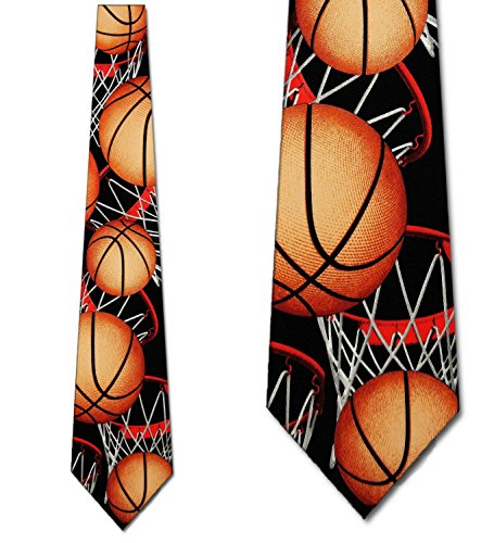 Background Necktie Black (Basketball TIES Neckties black)