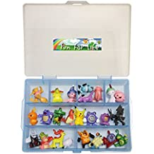 Pokemon Go Figure Compatible Sky Blue- Fun for LifeTM is Pefect Compatible Storage Case Including One Bag (24 pcs) Of Pokemon Characters