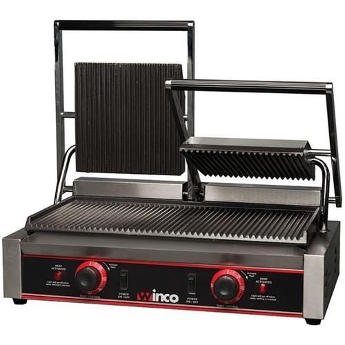 Grill Electric Double - Winco EPG-2 Italian Style Panini Grill, electric, countertop double
