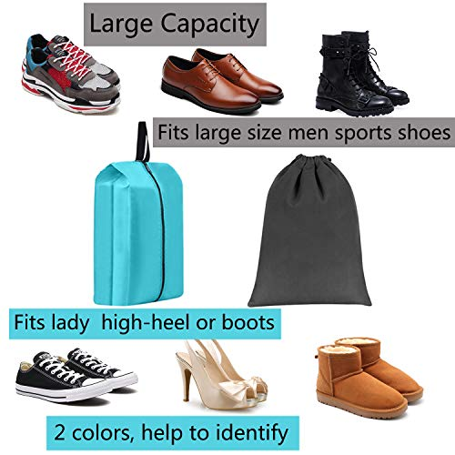 4287f47c7d3f Shoe Bags for Travel Accessories Men   Women Large Shoe Bag with Drawstring  and Zipper for
