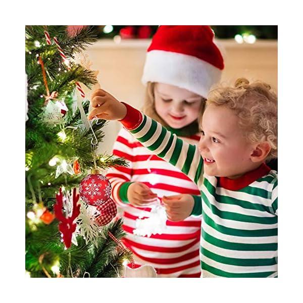 Kiiwah 200 Pezzi S Hooks Ganci Palle Natale, Ganci per Ornamenti Appendere in Metallo Albero di Natale Decorazioni per Feste di casa (Argento) 5 spesavip