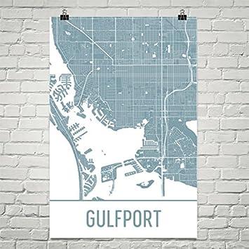 Amazon.com: Gulfport Map, Gulfport Art, Gulfport Print, Gulfport MS ...