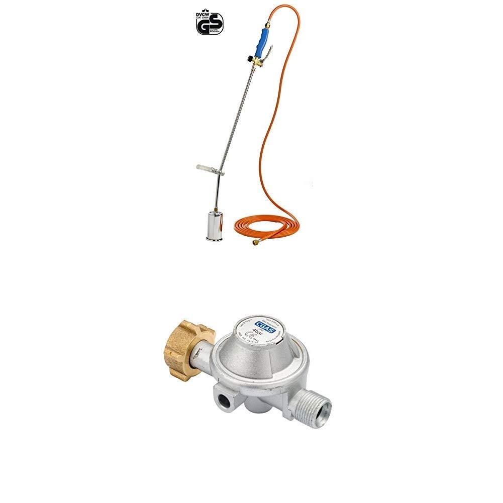 Unkrautvernichter gegen Unkraut Abflammger/ät GLORIA Thermoflamm bio Professional Grillanz/ünder Druckminderer erforderlich Unkrautbrenner Gasbrenner Betrieb mit Gasflasche