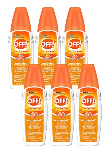 OFF! FamilyCare Insect Repellent IV, Unscented, 9 oz, 1 ct (Pack - 6)