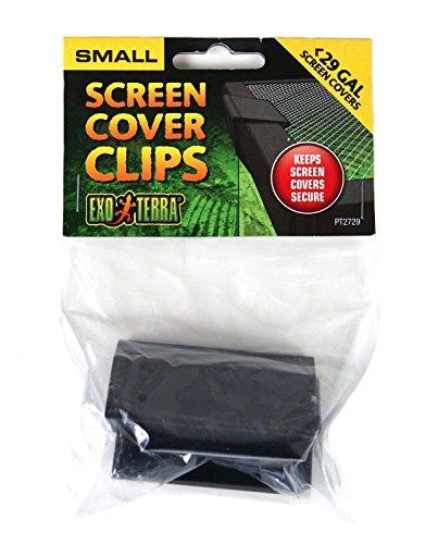 Clips Cover Screen Security - Exo Terra PT2729 Terrarium Cover Clip Set, Small