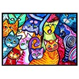 certainPL Partial Drill DIY 5D Diamond Painting by Number Kits, Crystal Rhinestone Embroidery Pictures, Animals Arts Craft for Adults (E)