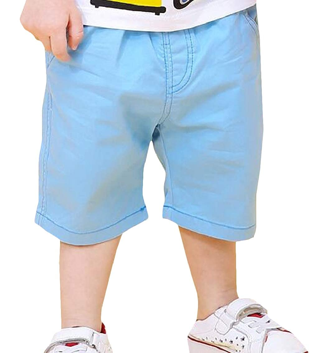 Sweatwater Boys Summer Solid Casual Elastic Waist Loveliness Shorts