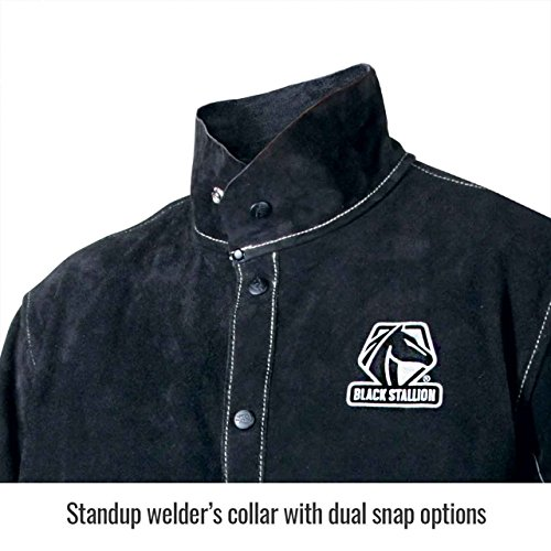 Black Stallion JL1030-BB Color Block Leather Welding Jacket, 4X-Large by Black Stallion (Image #1)