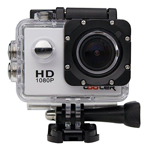 COOLER Unterwasserkameras weiss 1.5 Zoll Full HD Sport Kamera 170 ° Weitwinkel Sport Action DV