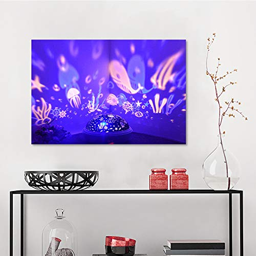 Art Decor Wall Stickers, JUSONG Night Light Projector Spin Starry Sky Star Master Rotating Children Kids Baby Sleep Romantic Led, Abstract Art W23.6 x L31.5 Inch ()