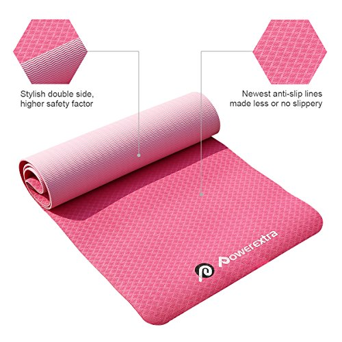 """Bruciare Pilates Chair Buy Online In Uae: Powerextra TPE Yoga Mat 1/4""""Thick 72"""" Eco-Friendly Non"""