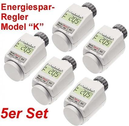 Set 5 termostatos con función Boost con baterías regulador de calefacción Radiador Termostato para Heimeier,