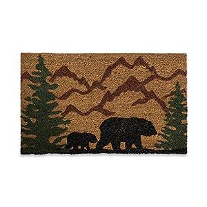 "DII CAMZ10716 Indoor/Outdoor Natural Coir Easy Clean Rubber Back Entry Way Doormat for Patio, Front, Weather Exterior Doors, 18x30"", Bear Country"