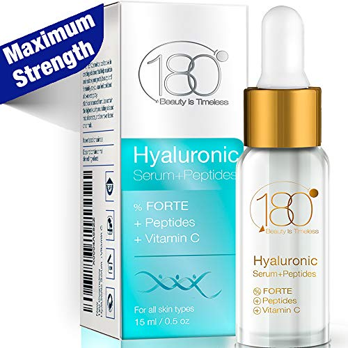 Face Serum - Hyaluronic Acid Serum with Peptides & Vitamin C for Maximum Results - Get Rid Of Wrinkles From Day 1 for age 40+, Moisturizer Serum With Hyaluronic Acid