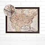 Personalized USA Road Trip Push Pin Map Art
