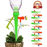 ?New Version? Plant Self Watering Spikes System with Slow Release Control Valve Switch, Automatic Vacation Plant Irrigation Watering Drip Devices, Anti-Tilt Anti-Fall Design, Suitable for All Bottles