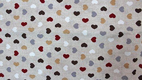 Tela algodón estampado diseño corazones multicolor tamaños retales: Amazon.es: Hogar