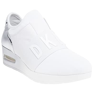 fd571dd4b2a0a9 DKNY Arnold Slip On Wedge Trainers Metallic  Amazon.co.uk  Shoes   Bags