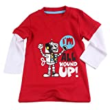 Baby House 1Piece Baby Boys Girls Long Sleeve Red Robot T-shirt Pajama Tops