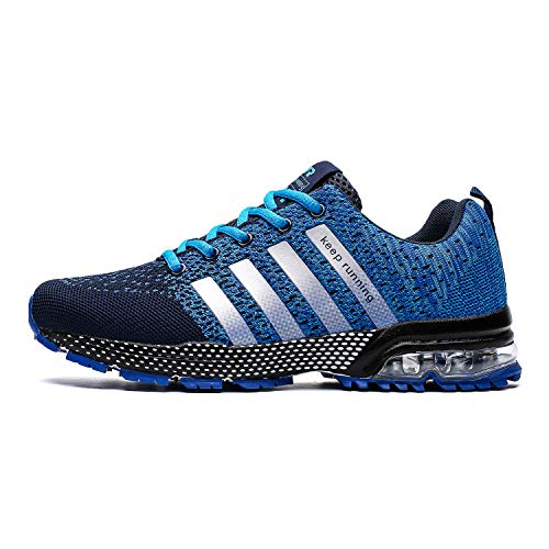 TORISKY Men's Women's Tennis & Racquet Sport Shoes Trail Running Sneakers Air Shoe Lightweight Gym Jogging Walking Casual Sports Max Fitness Male Athletic Wear(8702-Blue 44) (Mens Sports Wears)