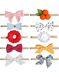 Baby Girl Headbands and Bows Flower,Newborn Headbands,Soft cute headband, 10 Pack Hair Bows Accessories for Newborn Infant Toddler Gift(Style 2)