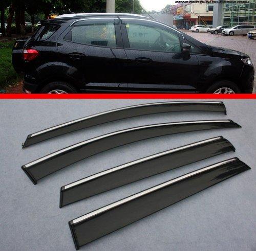 2013 2014 Hatch Window Door Vent Visor Rain Guard Wind Deflectors Fit For Ford EcoSport