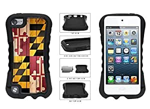 Maryland State Flag on Wood 2-Piece Dual Layer Phone Case Back Cover Diy For Iphone 4/4s Case Cover Generation
