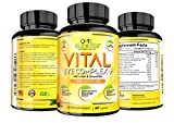 One Elevated Vital Eye Complex Supplement with Lutein Zeaxanthin Lycopene Beta Carotene amp Ginkgo Biloba - 60 Count Discount