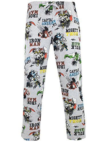Marvel Mens' Avengers Lounge Pant Size Grey Medium