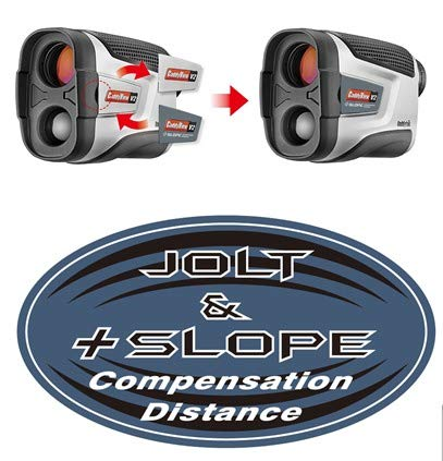 (CaddyTek Golf Laser Rangefinder with Slope and Jolt Function)