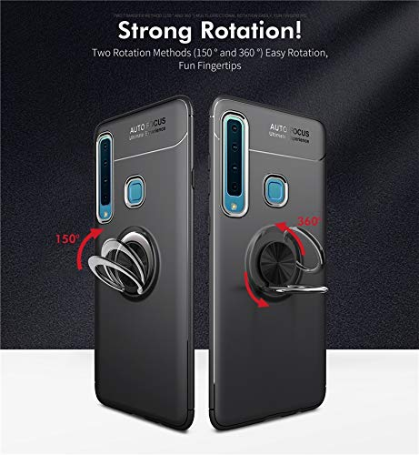 sports shoes 63c7a fe369 Samsung Galaxy A7 (2018) Triple Camera Cover Case Finger Ring Holder Soft  Silicone Matte Back Cover for Samsung Galaxy A7 (2018) Triple Camera Phone  ...
