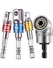 3pc Hex Shank Drill Nut Driver Bit Set+Right Angle Drill