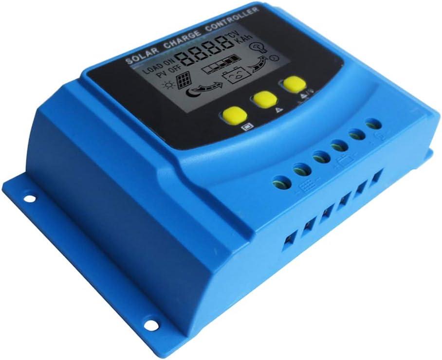 30A 12V//24V PWM Solar Panel Charge Controller Li-ion /&  Lead Acid Battery Change