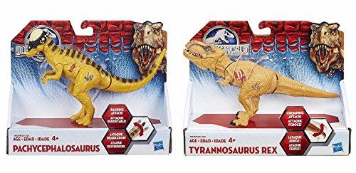 Jurassic World Bashers & Biters Dinosaur GIFT BUNDLE Pachycephalosaurus and Tyrannosaurus Rex