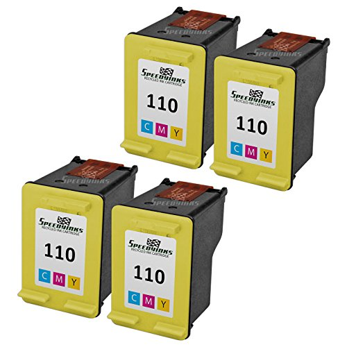 Speedy Inks - 4PK Remanufactured replacement for HP110 CB...